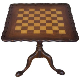 1920s Queen Anne Style Pie Crust Game Table For Sale