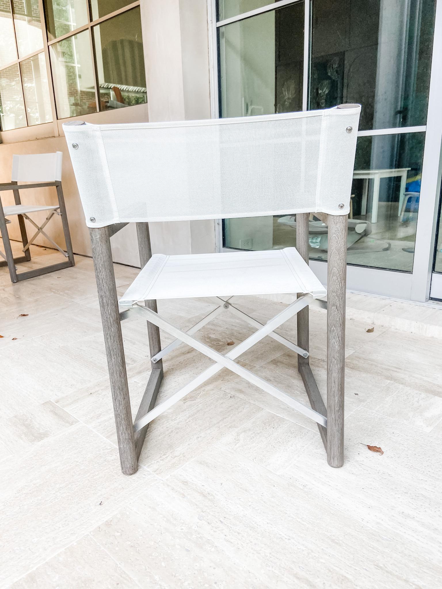 Restoration Hardware Director/'s Outdoor Teak Armchair