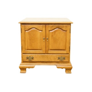 "Ethan Allen Heirloom Nutmeg Maple 25"" Storage End Table For Sale"