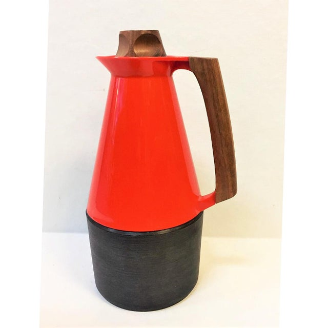 Mid-Century Modern Carafe With Teak Accents For Sale - Image 10 of 10