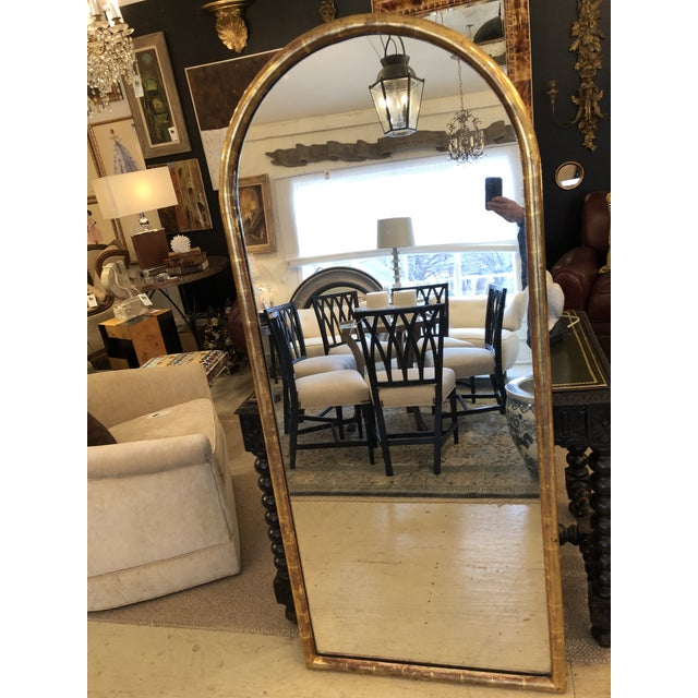 French 19th Century Antique Water Giltwood Arch Shaped Mirror For Sale - Image 3 of 11