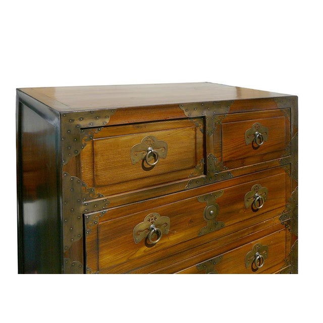 Korean Brass Hardware Accent Dresser - Image 5 of 5