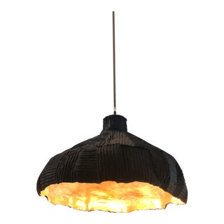 Paper Clay Gold & Black Light Fixture For Sale
