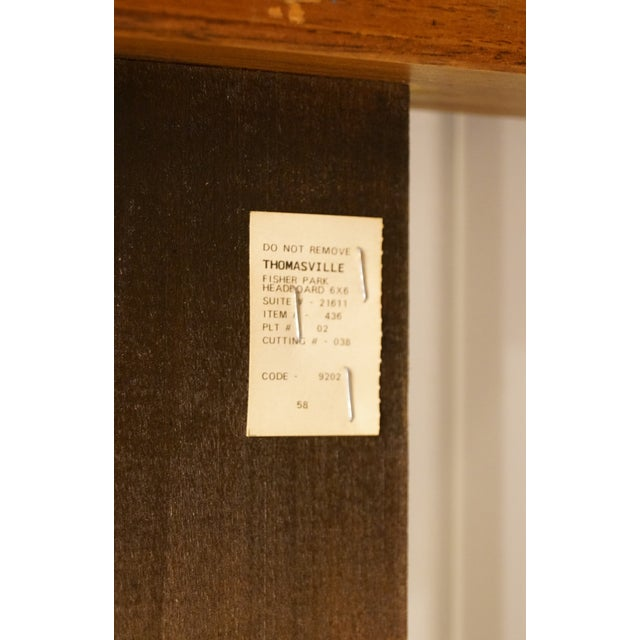 Wood Late 20th Century Vintage Thomasville Furniture Fisher Park Collection King Size Headboard For Sale - Image 7 of 8