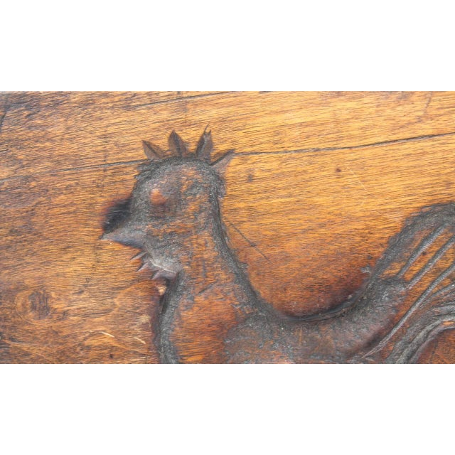Hand-Carved Early 19th Century Folky Wood Rooster Mold - Image 3 of 6