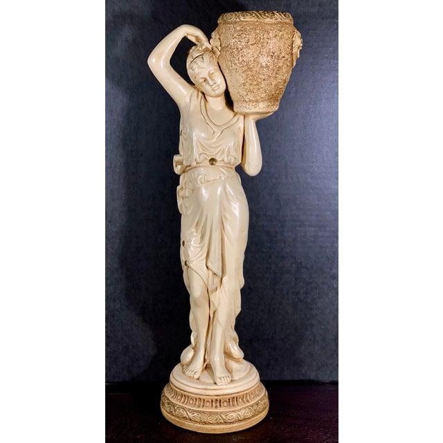 Mid-Century Vintage Tall Venus W/Amphora Cachepot Statue For Sale - Image 11 of 11
