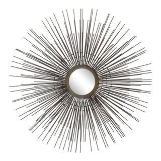 Mid Century Hand Forged Starburst Mirror For Sale