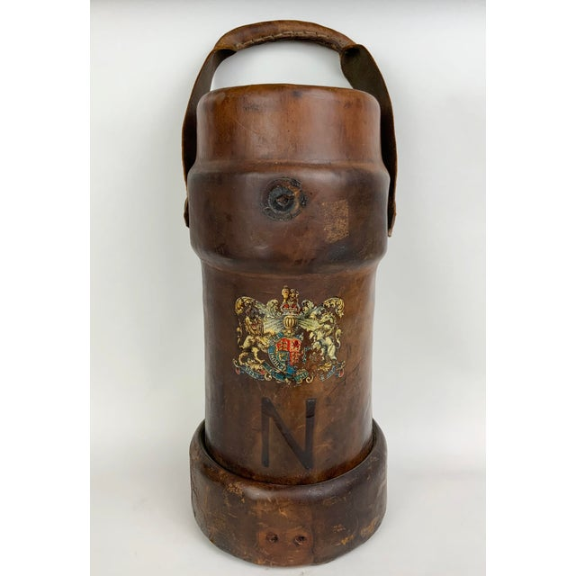 Early 19th Century Leather Ammunition Bucket For Sale - Image 13 of 13