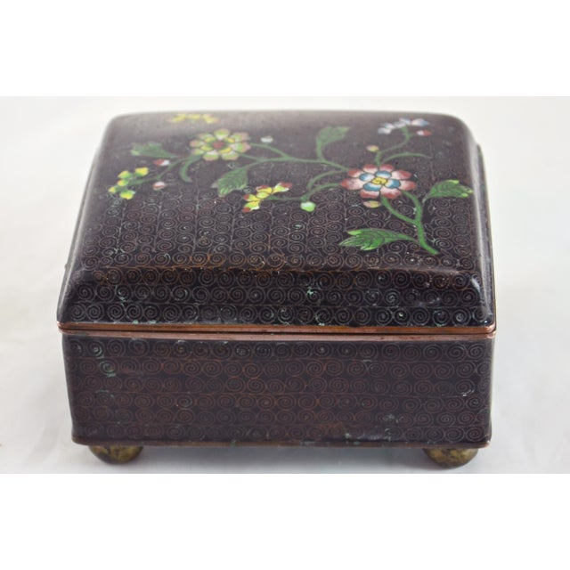Asian 1920s Chinese Cloisonné Box For Sale - Image 3 of 6