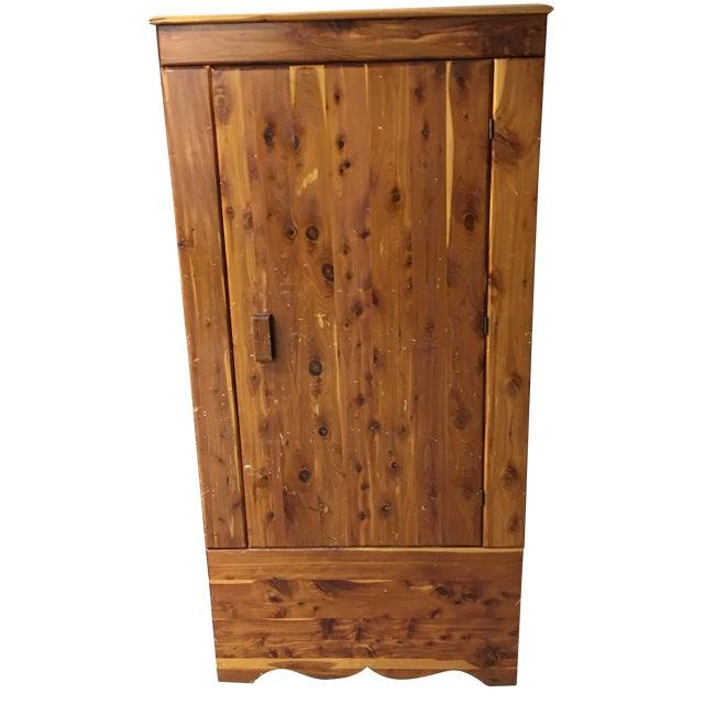 Vintage Cedar Armoire - Image 1 of 9