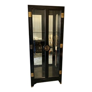 20th Century Chinoiserie American of Martinsville Display Cabinet For Sale