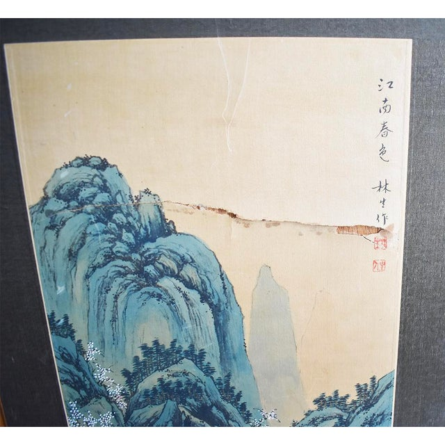 Original Asian Wood Panel Paintings - a Pair For Sale - Image 4 of 7