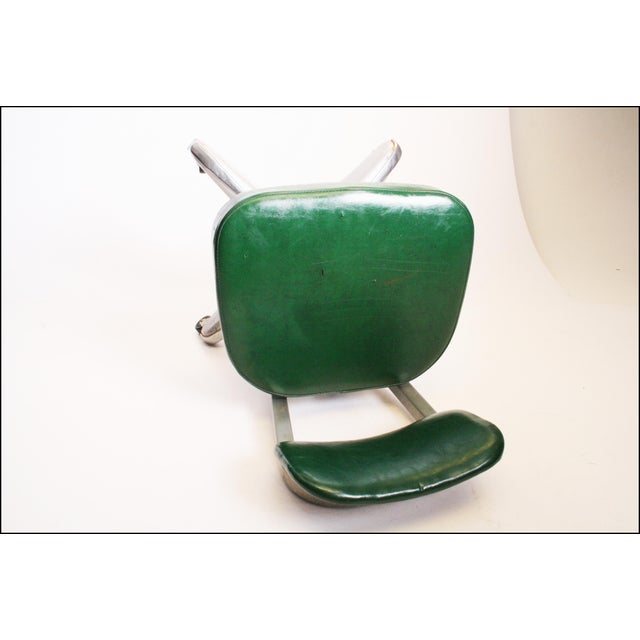 Vintage Cole Steel Industrial Swivel Office Chair For Sale - Image 10 of 11