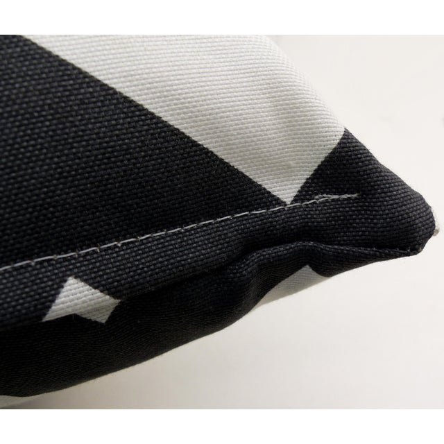 Dark Gray/Off-White Chevron Pattern Custom Pillow - Image 6 of 6