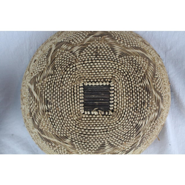 Brown Ghanian Basket For Sale - Image 8 of 9