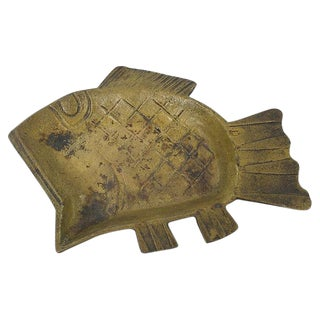 Mid-Century Modern Iron Fish Catchall For Sale