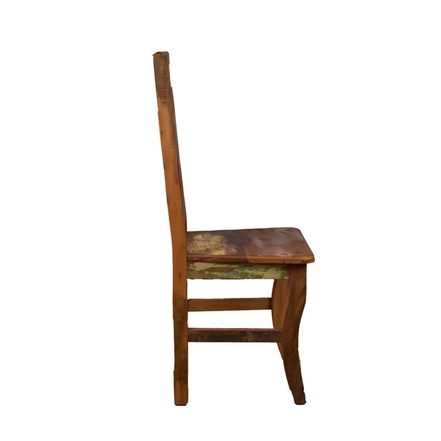 Reclaimed Wood Dining Set For Sale In Los Angeles - Image 6 of 7