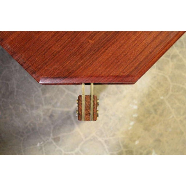 Rosewood and Brass Coffee Table - Image 4 of 10