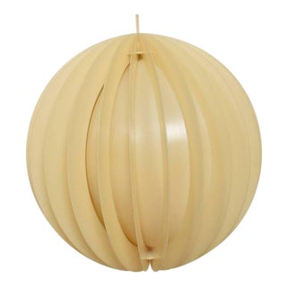 Mid-Century Modern Round Pendant Lighting Plexiglass For Sale