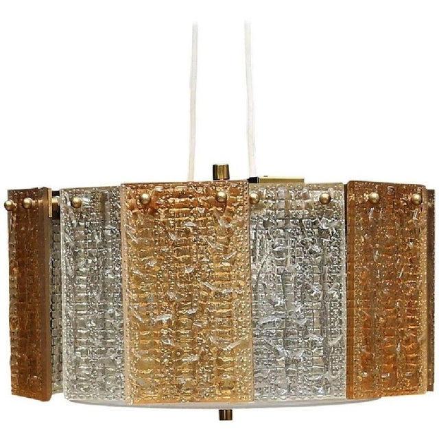 Glass Hanging Lamp by Carl Fagerlund for Orrefors, 1972 For Sale - Image 5 of 5