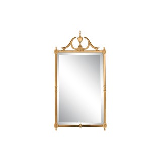 Brass Wall Mirror W/ Beveled Edge For Sale