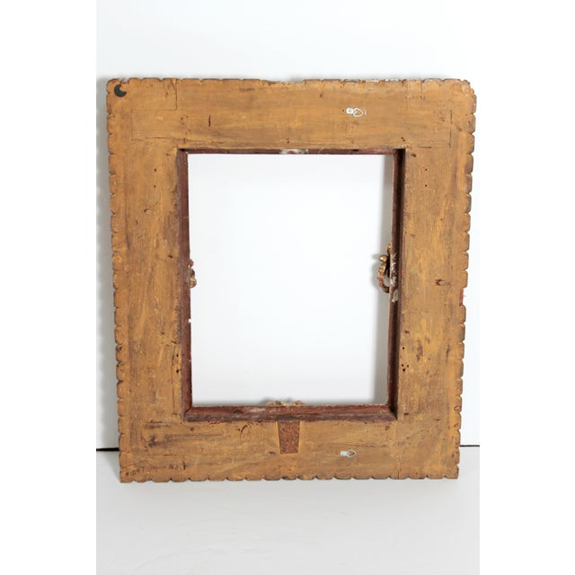 Rare 17th Century Giltwood Italian Picture Frame For Sale - Image 10 of 11