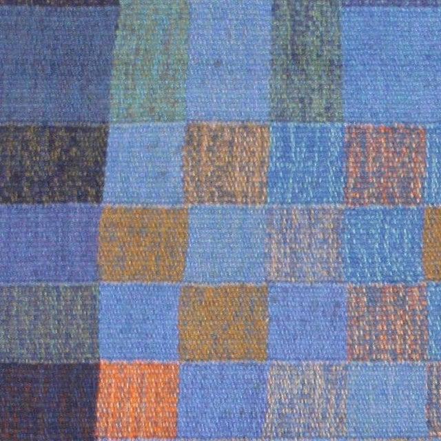 Boho Chic Vintage Scandinavian Square Rug by Karin Jonsson - 6′7″ × 6′7″ For Sale - Image 3 of 7