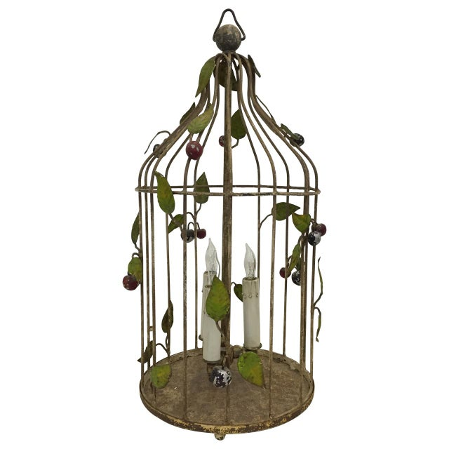 1940s Painted Italian Birdcage Chandelier For Sale - Image 5 of 5