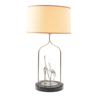 Curtis Jeré Cranes in Water Table Lamp For Sale