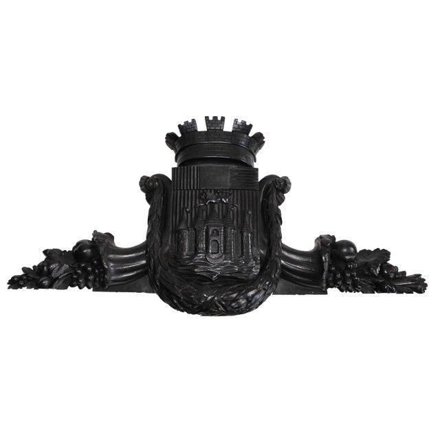 Antique Coat of Arms Pediment - Image 1 of 5