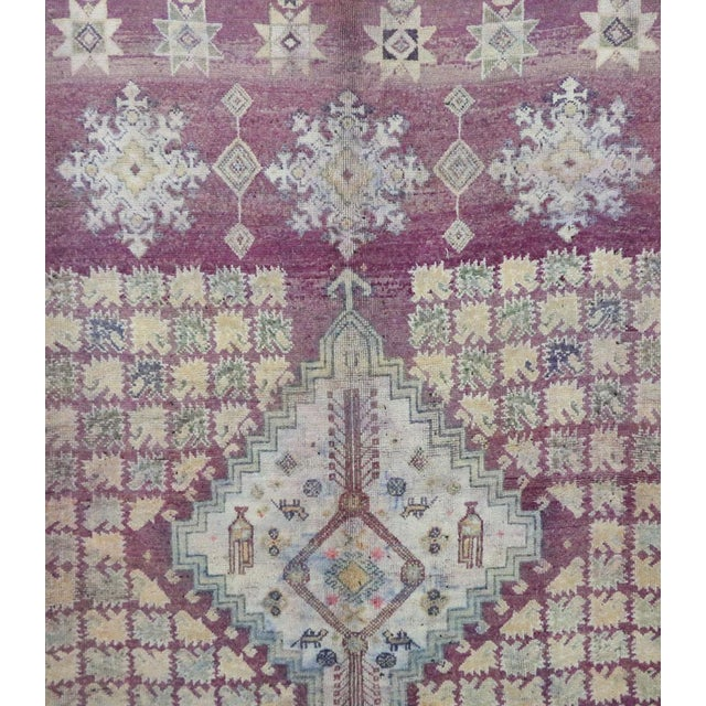 "Boujad Vintage Moroccan Rug, 6'3"" X 9'3"" Feet For Sale - Image 4 of 6"