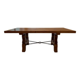 Country Style Wood Dining Table For Sale