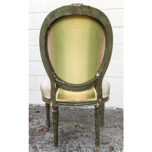 Vervain 19th Century French Fauteuil Chair with Green Ombre Velvet - Image 8 of 9