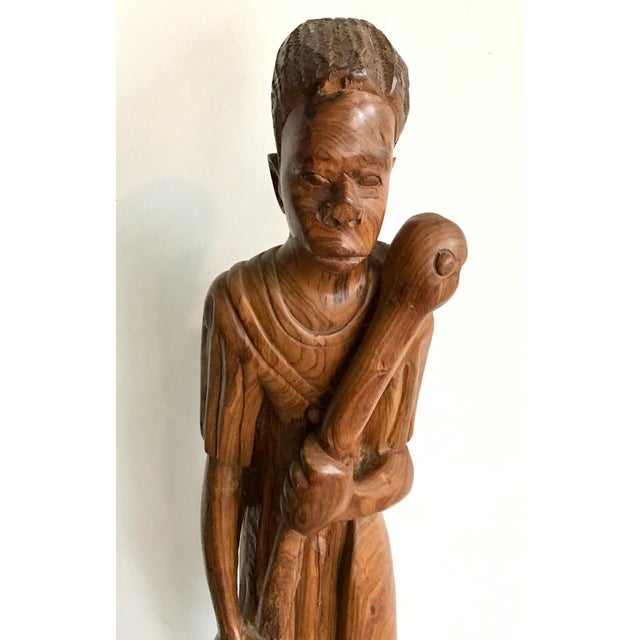 1900 - 1909 1900s Vintage Carved Wood African Tribal Sculpture For Sale - Image 5 of 8