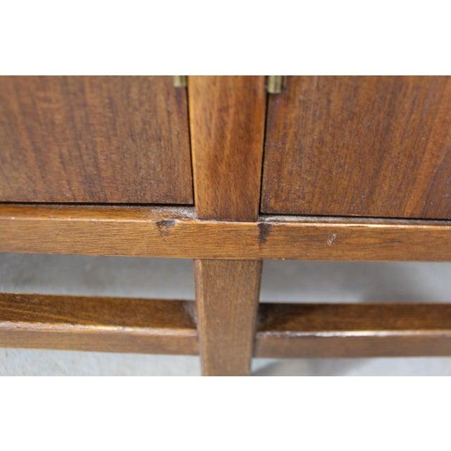 Mid-Century Danish Modern 4-Door Parquet Walnut Credenza Sideboard For Sale - Image 12 of 13