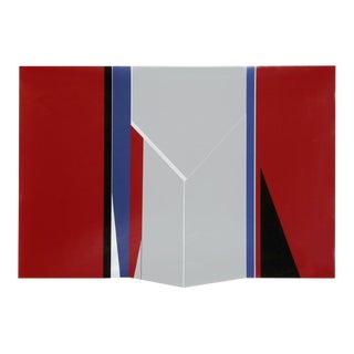 Geometric Screenprint on Foil Paper