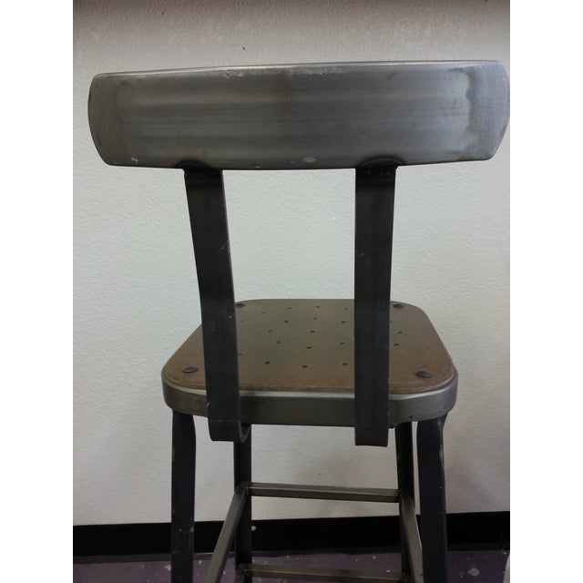 Industrial Steel Bar Stools - Set of 3 - Image 4 of 6