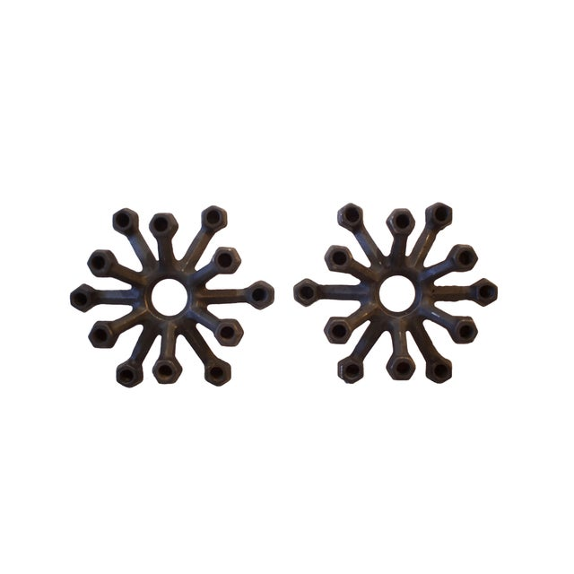 Pair of Danish Modern Tiny Taper Candle Holders For Sale - Image 4 of 4