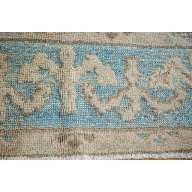 "Vintage Pale Blue Oushak Carpet - 5'4"" X 8' For Sale In New York - Image 6 of 8"