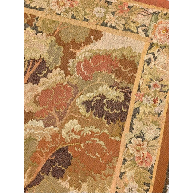 """Late 19th Century Antique Old World Hunting Tapestry, Circa 1900, 4'10"""" X 6'5"""" For Sale - Image 5 of 11"""