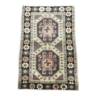 1990s Turkish Rug - 2′8″ × 3′11″ For Sale