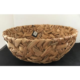 Lillian August White Hyacinth/Seagrass Braided Basket Bowl Preview