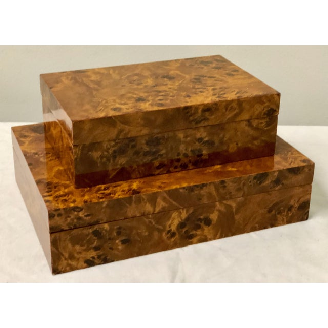 Italian Burlwood Boxes - A Pair - Image 8 of 9