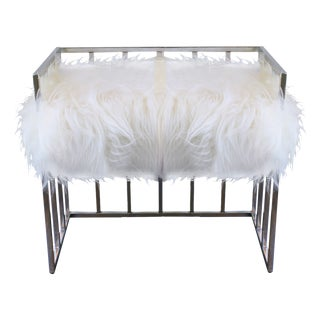Mid-Century Chrome Plated Bench For Sale