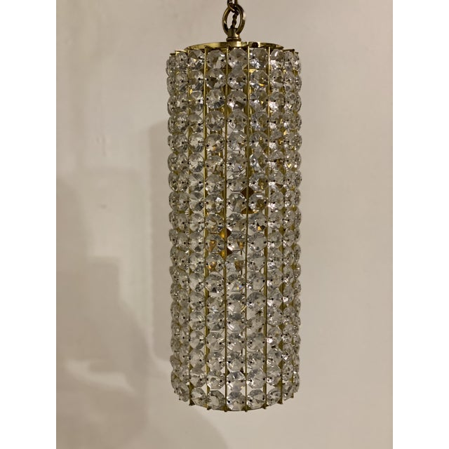 Mid-Century Crystals Light Fixtures - a Pair For Sale In New York - Image 6 of 7