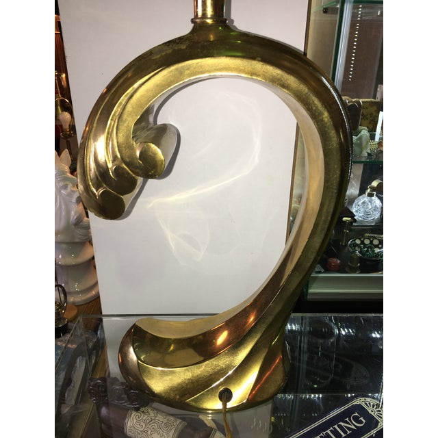 Pierre Cardin Sculptural Brass Table Lamp - Image 6 of 7