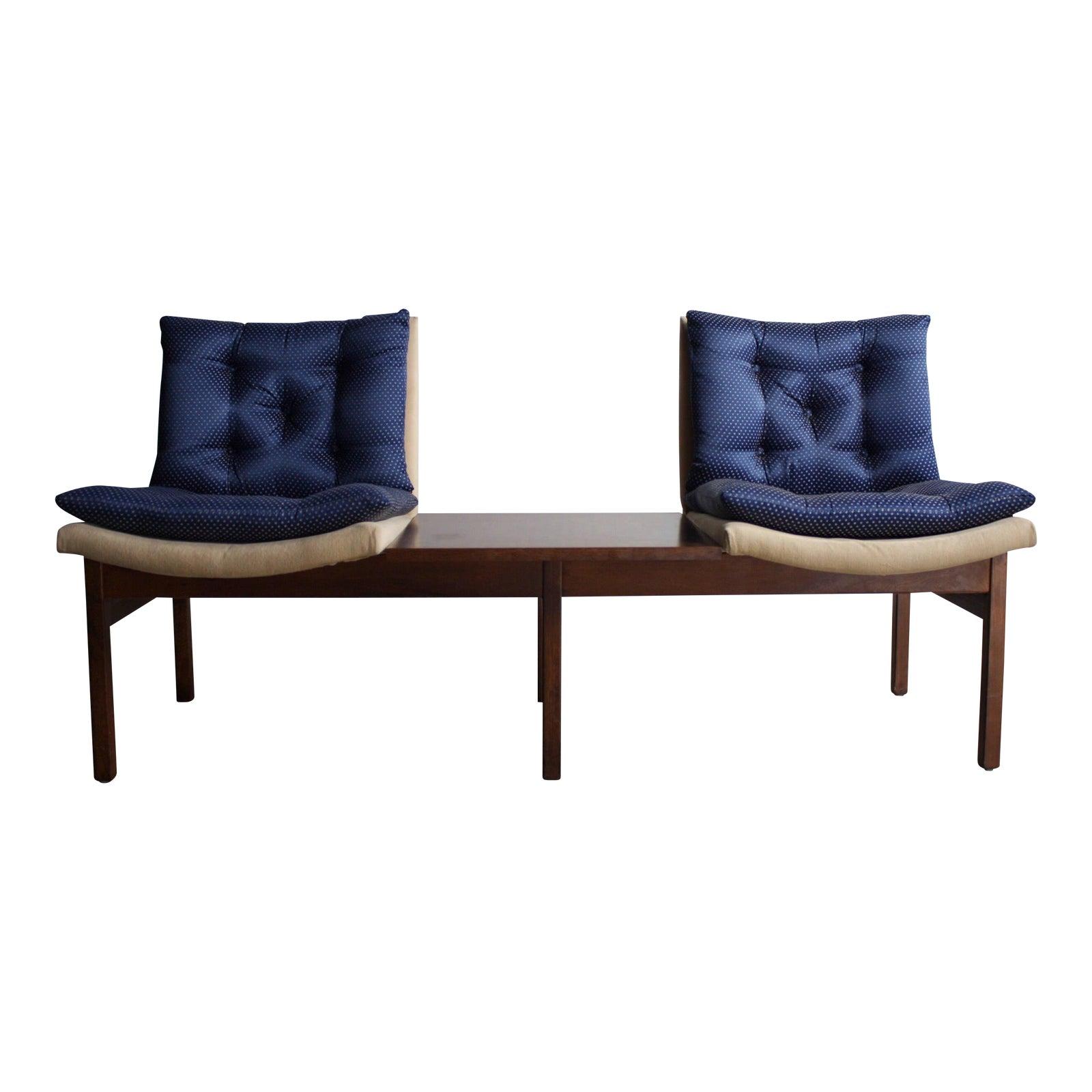 Arthur umanoff modular walnut bench seating for madison furniture co chairish