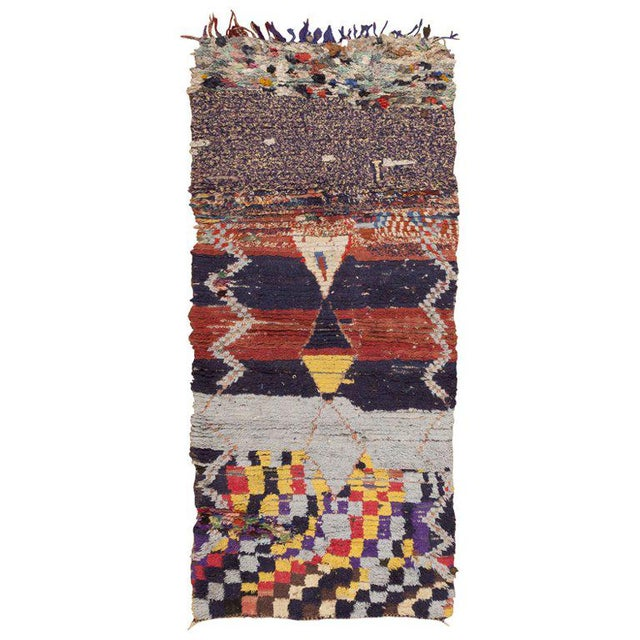 Vintage Moroccan Rug - 3′ × 6′6″ For Sale In New York - Image 6 of 6