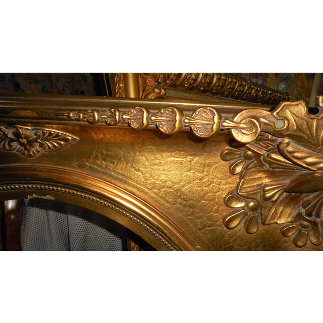 3bd2b32b78f1 Gesso 18th - 19th Century Ornate Gold Leaf Frame - Very Large For Sale -  Image