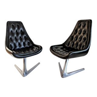 1960s Vintage Chromcraft Star Trek Swivel Chairs- A Pair For Sale